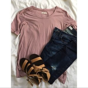 Madewell Riff Tee - Dusty Rose XS